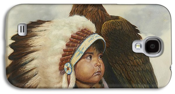 Western Art Digital Art Galaxy S4 Cases - Golden Eagles Galaxy S4 Case by Gregory Perillo