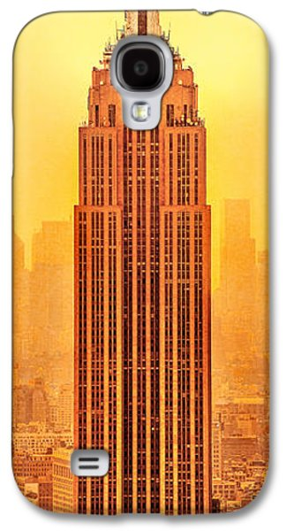 Empire State Galaxy S4 Cases - Golden Empire State Galaxy S4 Case by Az Jackson