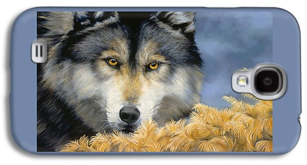 Close Up Paintings Galaxy S4 Cases - Golden Eyes Galaxy S4 Case by Lucie Bilodeau