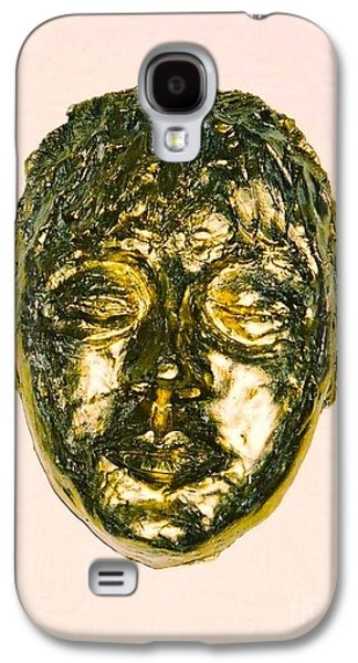 Impressionism Sculptures Galaxy S4 Cases - Golden Face Galaxy S4 Case by Joan-Violet Stretch