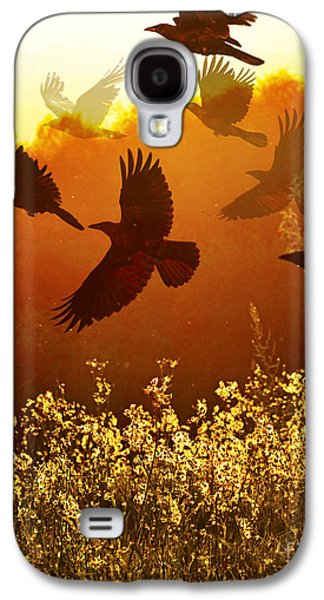 Judy Wood Galaxy S4 Cases - Golden Flight Galaxy S4 Case by Judy Wood