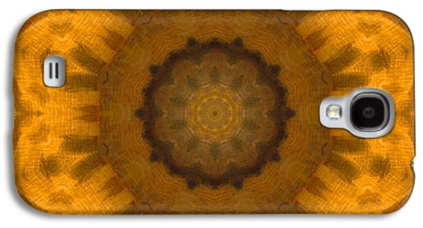 Nature Center Paintings Galaxy S4 Cases - Golden Flower Galaxy S4 Case by Dan Sproul