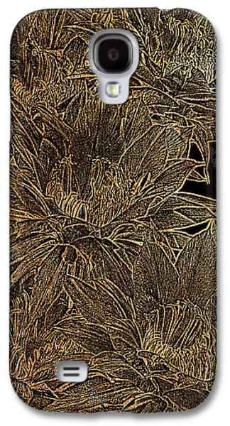 Bloosom Galaxy S4 Cases - Golden Flowers  Galaxy S4 Case by Phyllis Denton