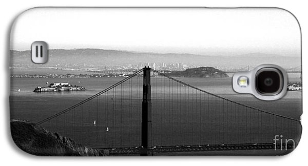 Alcatraz Galaxy S4 Cases - Golden Gate and Bay Bridges Galaxy S4 Case by Linda Woods