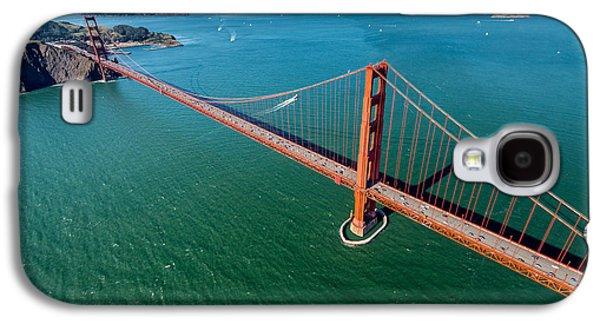 San Francisco Bay Galaxy S4 Cases - Golden Gate Bridge Aloft Galaxy S4 Case by Steve Gadomski