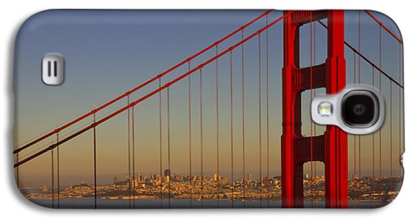 Downtown San Francisco Galaxy S4 Cases - Golden Gate Bridge at Sunset Galaxy S4 Case by Melanie Viola