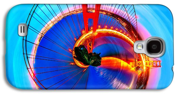 United Photographs Galaxy S4 Cases - Golden Gate Bridge Circagraph Galaxy S4 Case by Az Jackson