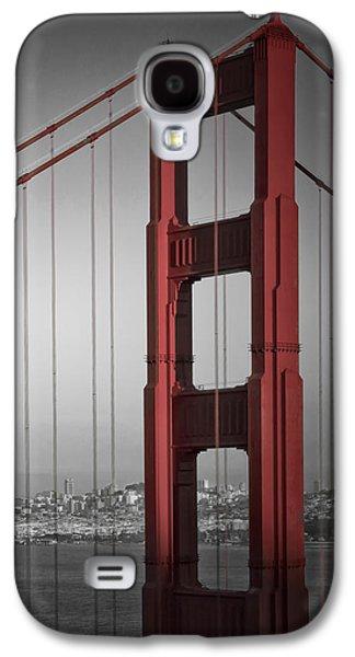 Golden Gate Bridge - Downtown View Galaxy S4 Case by Melanie Viola