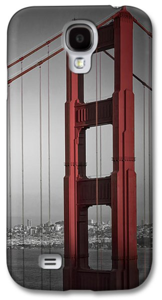 Downtown San Francisco Galaxy S4 Cases - Golden Gate Bridge - Downtown View Galaxy S4 Case by Melanie Viola