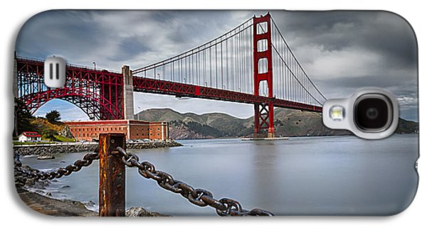 Sausalito Galaxy S4 Cases - Golden Gate Bridge Galaxy S4 Case by Eduard Moldoveanu