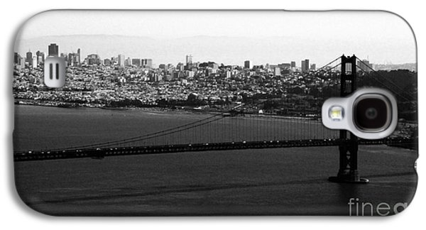 Black And White Photos Galaxy S4 Cases - Golden Gate Bridge in Black and White Galaxy S4 Case by Linda Woods