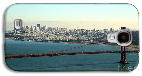 Architecture Mixed Media Galaxy S4 Cases - Golden Gate Bridge Galaxy S4 Case by Linda Woods