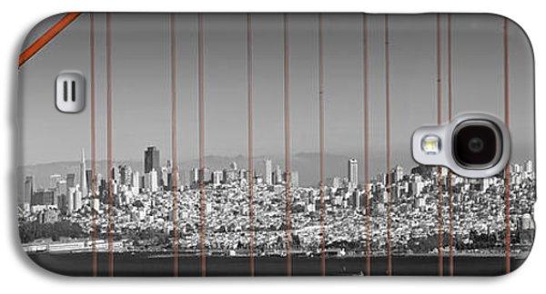 Golden Gate Bridge Panoramic Downtown View Galaxy S4 Case by Melanie Viola