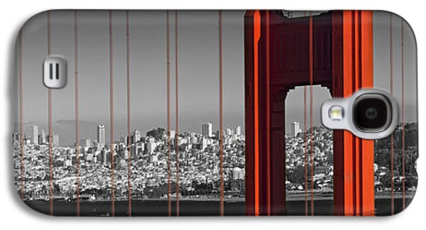 Downtown San Francisco Galaxy S4 Cases - Golden Gate Bridge Panoramic Downtown View Galaxy S4 Case by Melanie Viola
