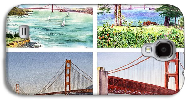 Sailboats In Water Galaxy S4 Cases - Golden Gate Bridge San Francisco California Galaxy S4 Case by Irina Sztukowski