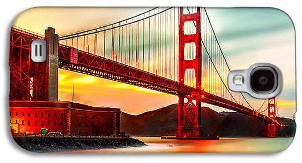 Golden Gate Sunset Galaxy S4 Case by Az Jackson