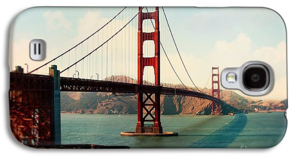Sausalito Galaxy S4 Cases - Golden Gate Bridge Galaxy S4 Case by Sylvia Cook