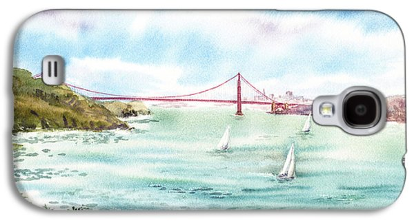 Sausalito Galaxy S4 Cases - Golden Gate Bridge View From Point Bonita Galaxy S4 Case by Irina Sztukowski