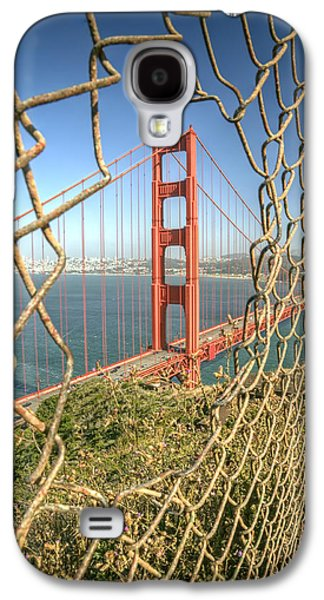 Road Travel Galaxy S4 Cases - Golden Gate through the fence Galaxy S4 Case by Scott Norris