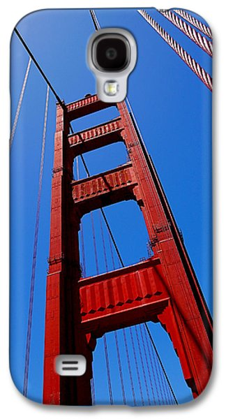 Urban Photographs Galaxy S4 Cases - Golden Gate Tower Galaxy S4 Case by Rona Black