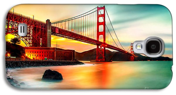 San Francisco Famous Photographers Galaxy S4 Cases - Golden Gateway Galaxy S4 Case by Az Jackson