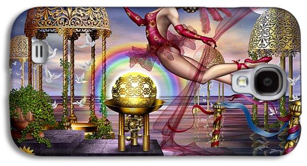 Jester Digital Art Galaxy S4 Cases - Golden Gazebos Galaxy S4 Case by Ciro Marchetti