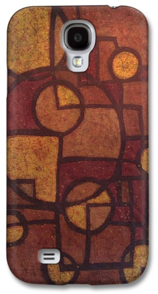 Abstract Tapestries - Textiles Galaxy S4 Cases - Golden Geometry Galaxy S4 Case by Kevin Houchin
