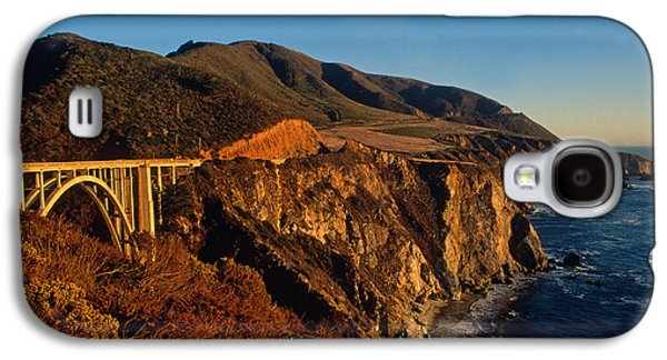 Bixby Bridge Galaxy S4 Cases - Golden Glow on Big Sur 2 Galaxy S4 Case by Kathy Yates