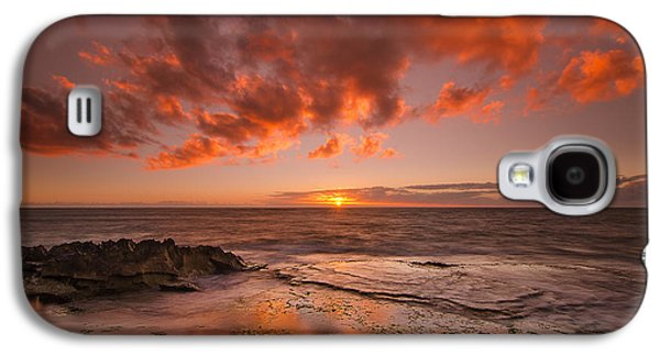 Top Seller Galaxy S4 Cases - Golden Hawaii Sunset  Galaxy S4 Case by Tin Lung Chao
