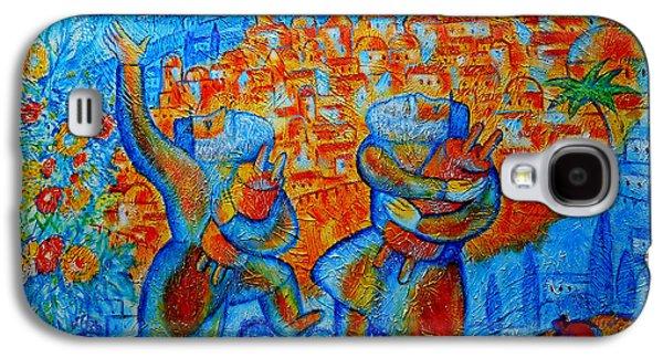 Jerusalem Paintings Galaxy S4 Cases -  Jerusalem of Gold Galaxy S4 Case by Leon Zernitsky