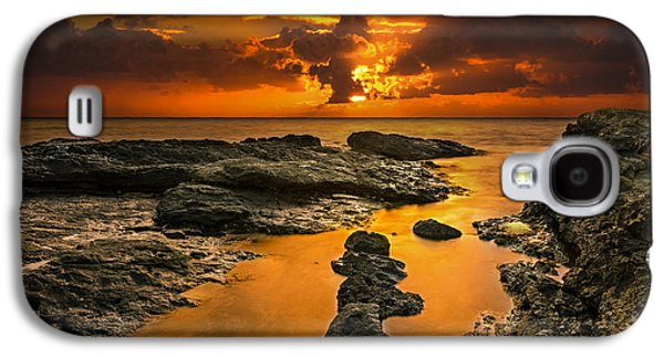 Top Seller Galaxy S4 Cases - Golden Kailua beach sunrise in Oahu Galaxy S4 Case by Tin Lung Chao