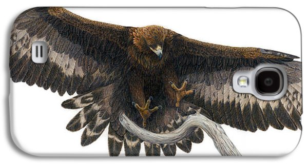 Eagle Paintings Galaxy S4 Cases - Golden Landing Galaxy S4 Case by Pat Erickson