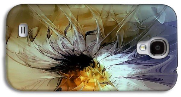 Floral Digital Art Digital Art Galaxy S4 Cases - Golden Lily Galaxy S4 Case by Amanda Moore