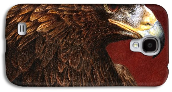 Eagle Paintings Galaxy S4 Cases - Golden Look golden eagle Galaxy S4 Case by Pat Erickson