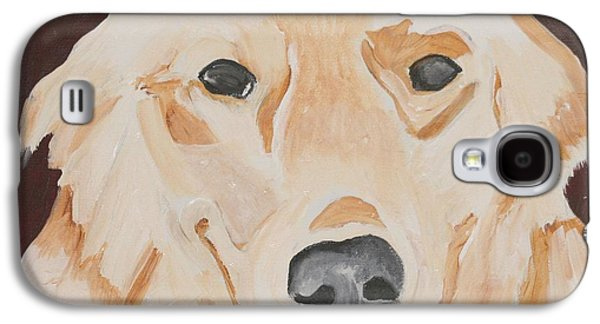 Dog Close-up Paintings Galaxy S4 Cases - Golden  Galaxy S4 Case by Meredith Brooks