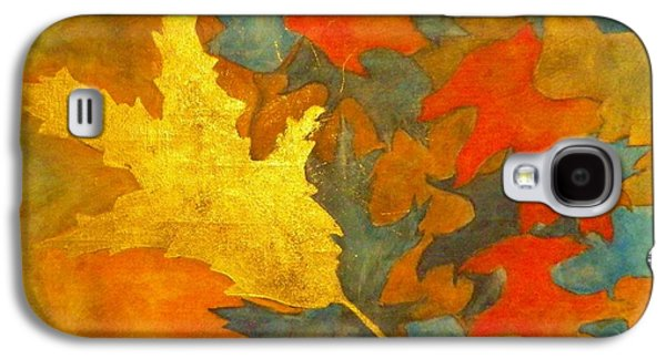 Boardroom Mixed Media Galaxy S4 Cases - Golden Oak Galaxy S4 Case by David Raderstorf