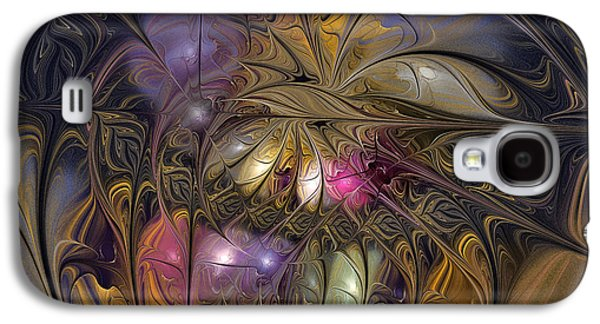Mathematical Design Galaxy S4 Cases - Golden Ornamentations-Fractal Design Galaxy S4 Case by Karin Kuhlmann