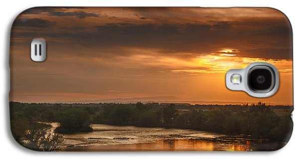River Flooding Galaxy S4 Cases - Golden Payette River Galaxy S4 Case by Robert Bales