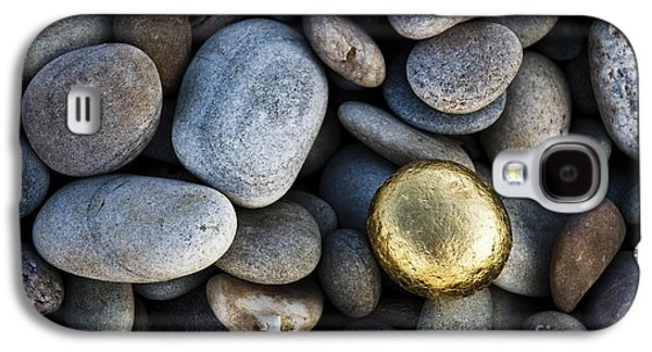 Pebbles Galaxy S4 Cases - Golden Pebble Galaxy S4 Case by Tim Gainey