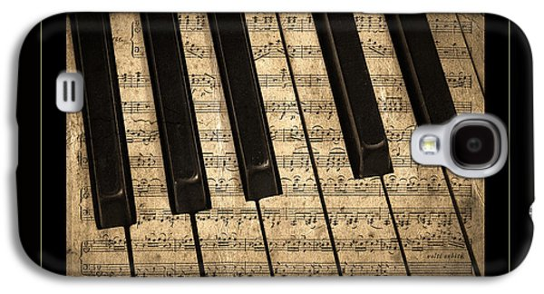 Piano Photographs Galaxy S4 Cases - Golden Pianoforte Classic Galaxy S4 Case by John Stephens