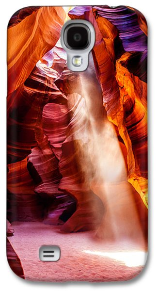 Landscape Photographs Galaxy S4 Cases - Golden Pillars Galaxy S4 Case by Az Jackson