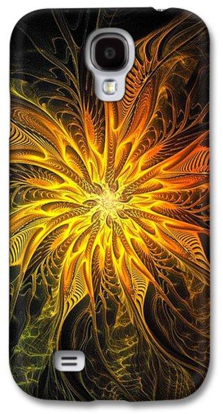 Floral Digital Art Digital Art Galaxy S4 Cases - Golden Poinsettia Galaxy S4 Case by Amanda Moore
