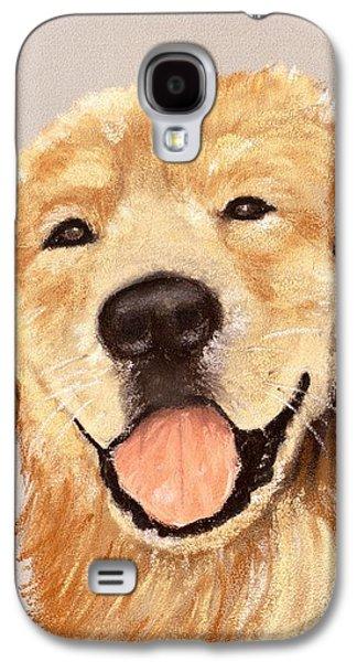 Family Galaxy S4 Cases - Golden Retriever Galaxy S4 Case by Anastasiya Malakhova