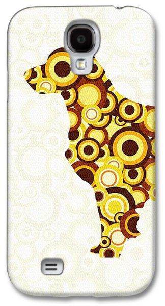 Brown Galaxy S4 Cases - Golden Retriever - Animal Art Galaxy S4 Case by Anastasiya Malakhova