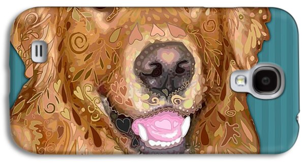 Recently Sold -  - Puppy Digital Galaxy S4 Cases - Golden Retriever Galaxy S4 Case by Sharon Marcella Marston