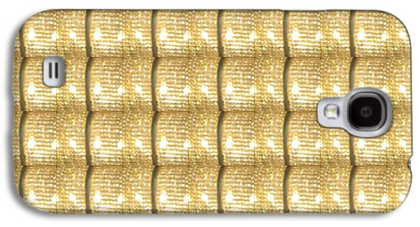 Business Galaxy S4 Cases - Golden Sparkle Biscuits Pattern Unique Graphic V3 Galaxy S4 Case by Navin Joshi