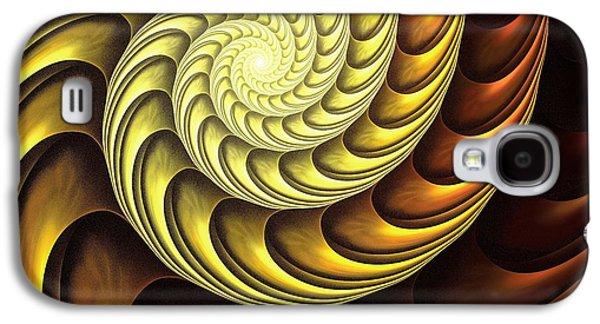 Gear Mixed Media Galaxy S4 Cases - Golden Spiral Galaxy S4 Case by Anastasiya Malakhova