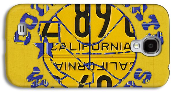 Golden State Warriors Basketball Team Retro Logo Vintage Recycled California License Plate Art Galaxy S4 Case by Design Turnpike