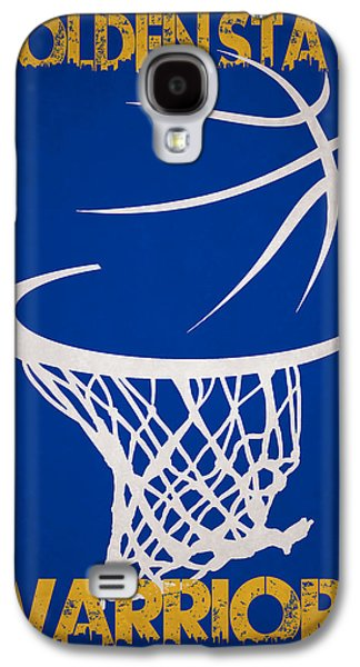 3 Pointer Galaxy S4 Cases - Golden State Warriors Hoop Galaxy S4 Case by Joe Hamilton