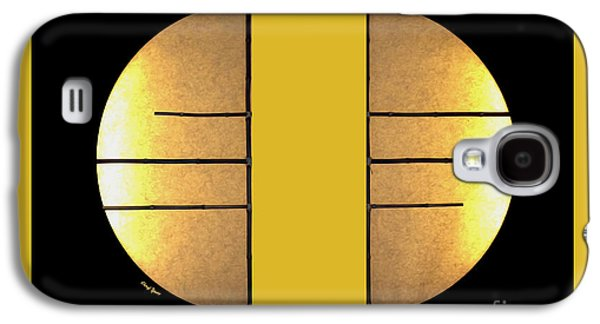 Bamboo House Galaxy S4 Cases - Golden Sun Diptych Galaxy S4 Case by Cheryl Young